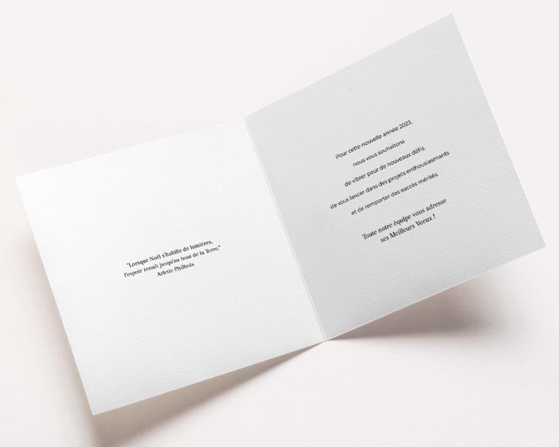 Carte de voeux avec logo d'entreprise Bonheur Festif pas cher