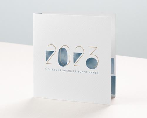 Carte de voeux avec logo d'entreprise Le Grand Bleu