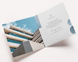 Carte de voeux avec logo d'entreprise Le Grand Bleu pas cher