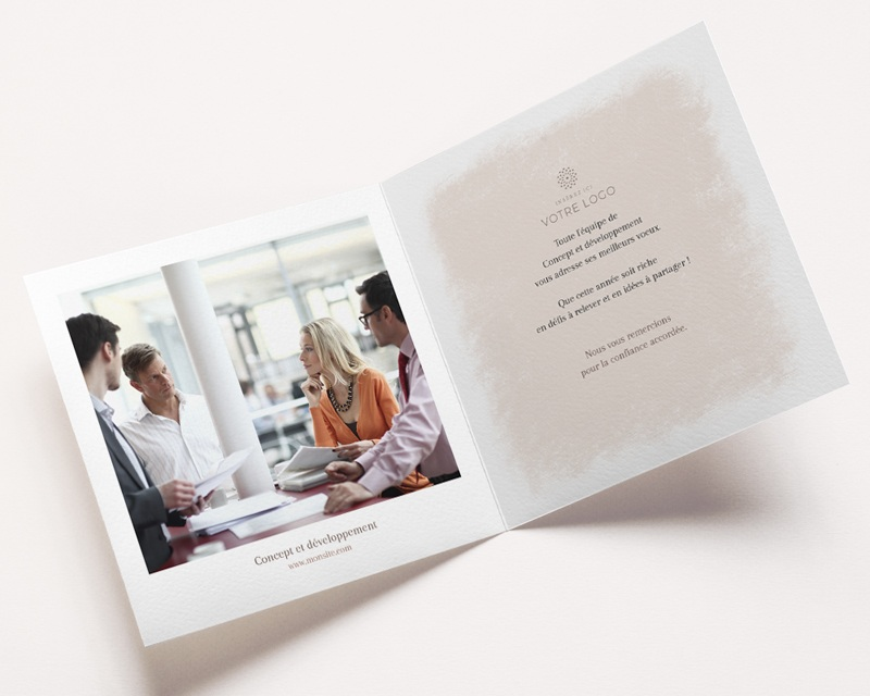 Carte de voeux avec logo d'entreprise Boules de Noël, Terracotta & Dorure pas cher