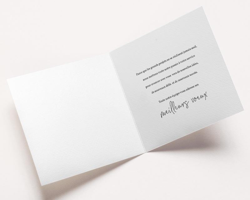 Carte de voeux avec logo d'entreprise Avalanche dorée pas cher