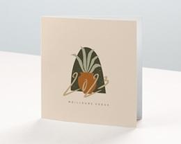 Carte de voeux avec logo d'entreprise Aloe Vera, Dorure