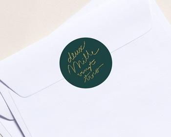 Autocollant Enveloppe Entreprise Personnalisé Année calligraphiée