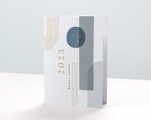 Carte de voeux avec logo d'entreprise Arche & Tons Givrés