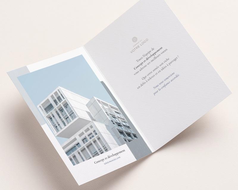 Carte de voeux avec logo d'entreprise Arche & Tons Givrés pas cher