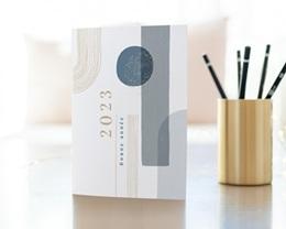 Carte de voeux avec logo d'entreprise Arche & Tons Givrés gratuit