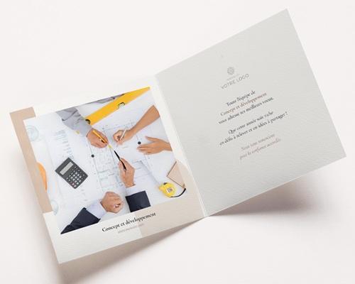 Carte de voeux avec logo d'entreprise Arche & Tons Chocolatés pas cher