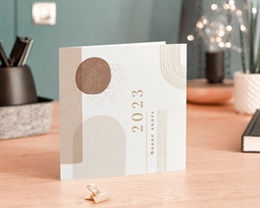 Carte de voeux avec logo d'entreprise Arche & Tons Chocolatés gratuit