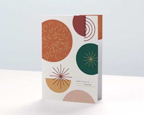 Carte de voeux avec logo d'entreprise Cercles colorés & Festifs