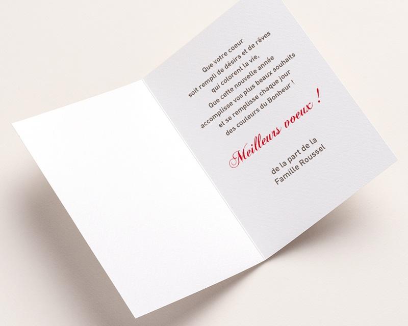 Carte de vœux particulier Romantique 2 pas cher