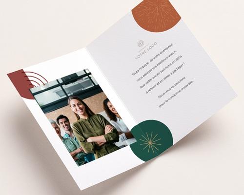 Carte de voeux avec logo d'entreprise Cercles colorés & Festifs pas cher