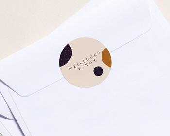 Autocollant Enveloppe Entreprise Personnalisé Un Monde Parfait