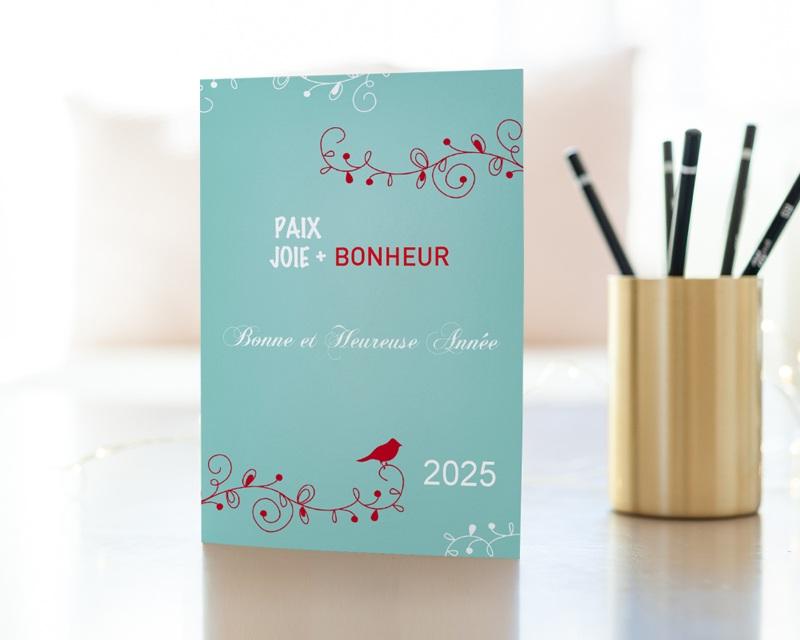 Carte de vœux particulier Romantique 2 gratuit