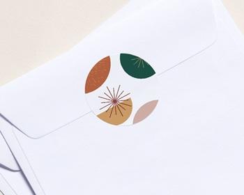 Autocollant Enveloppe Entreprise Personnalisé Cercles colorés & Festifs