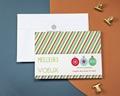 Carte de vœux particulier - Étoffe de noël