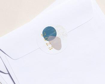 Autocollant Enveloppe Entreprise Personnalisé Fenêtre Optimiste sur l'Avenir