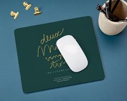 Tapis de souris entreprise personnalisé Année calligraphiée gratuit