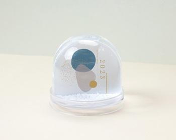 Boule à Neige entreprise 2022 Personnalisée Fenêtre Optimiste sur l'Avenir
