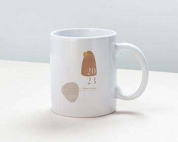 Mug entreprise personnalisé Zen, sable & terracotta