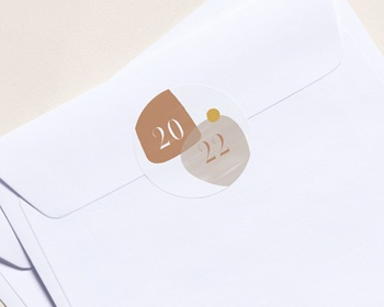 Autocollant Enveloppe Entreprise Personnalisé Zen, sable & terracotta