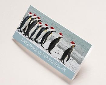 Carte de voeux entreprise - Pingouins - 1