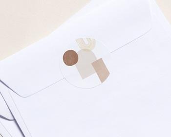 Autocollant Enveloppe Entreprise Personnalisé Arche & Tons Chocolatés