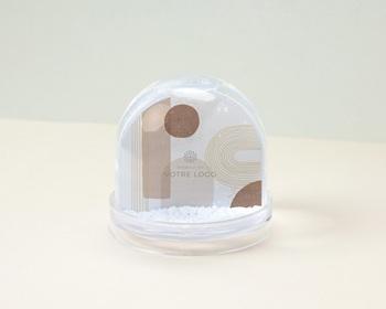 Boule à Neige entreprise 2022 Personnalisée Arche & Tons Chocolatés