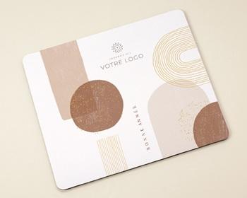 Tapis de souris entreprise personnalisé Arche & Tons Chocolatés