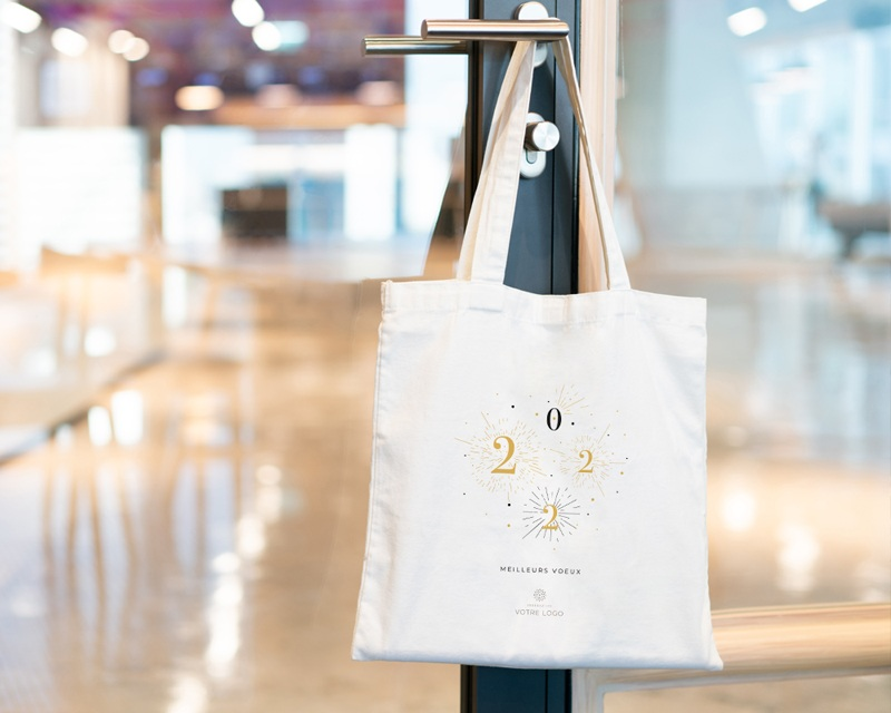 Tote Bag Entreprise Personnalisé Bonheur Festif pas cher