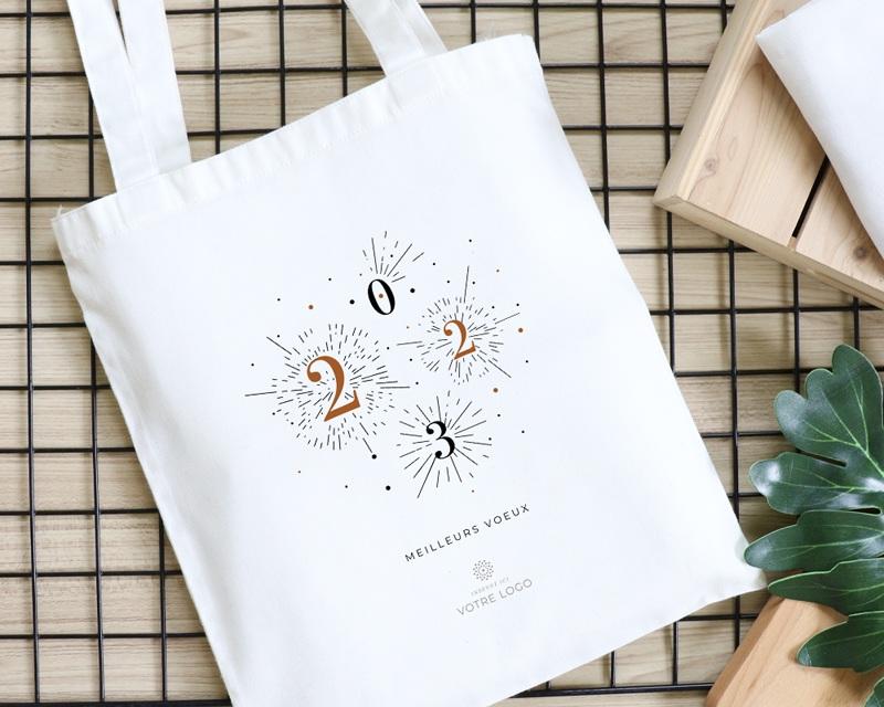 Tote Bag Entreprise Personnalisé Bonheur Festif gratuit