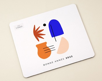 Tapis de souris entreprise 2022 personnalisé Couleurs de méditerranée, Inspi Matisse