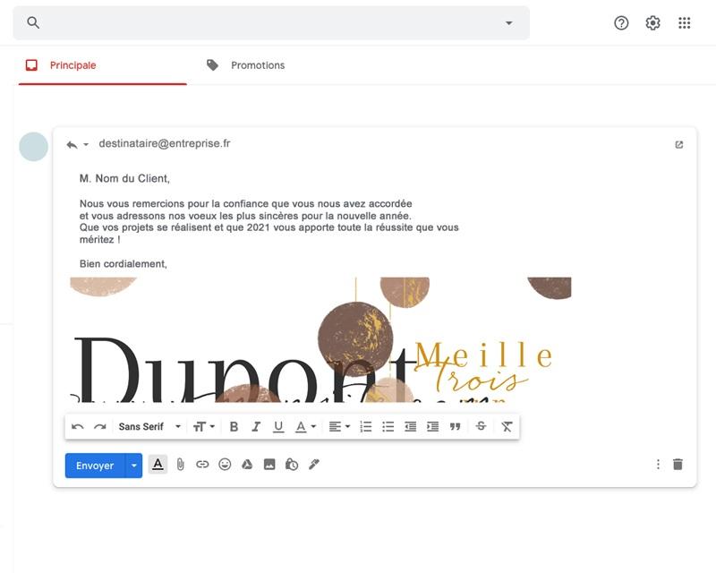 Carte Virtuelle Réseaux Sociaux Boules de Noël, Terracotta, Pack Réseaux gratuit