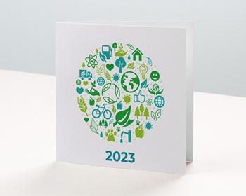 Carte de Voeux Entreprise écologique et vert personnalisable