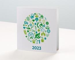 Carte de voeux avec logo d'entreprise Écologique et vert