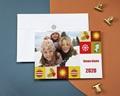 Carte de vœux particulier - Fêtes en famille