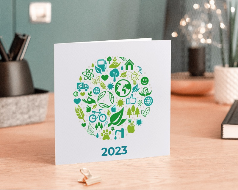 Carte de Voeux Entreprise Écologique et vert gratuit