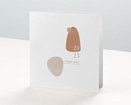 Carte de voeux avec logo d'entreprise Galets Sable, Terracotta & dorure