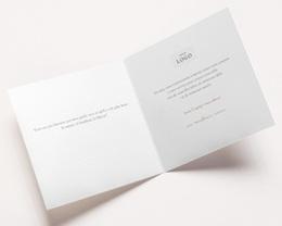 Carte de voeux avec logo d'entreprise Galets Sable, Terracotta & dorure pas cher