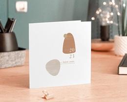 Carte de voeux avec logo d'entreprise Galets Sable, Terracotta & dorure gratuit