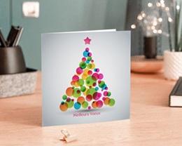 Carte de Voeux Entreprise Sapin en couleurs gratuit