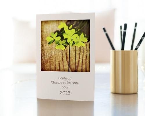 Carte de Voeux Entreprise Trèfles à 4 feuilles gratuit