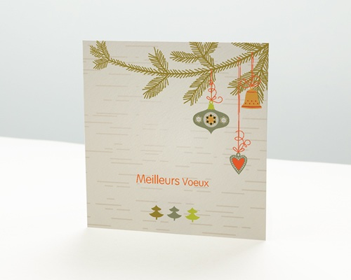 Carte de vœux particulier - Traditionnelle