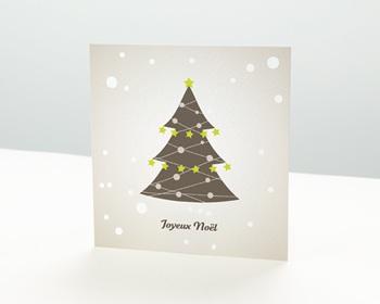 Carte de vœux particulier - Saison de Noel - 1