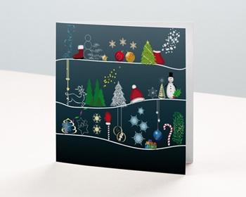 Carte de vœux particulier - Les symboles de NOEL - 1