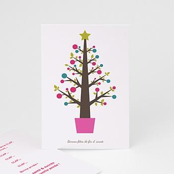 Carte de vœux particulier - Arbre pop - 1