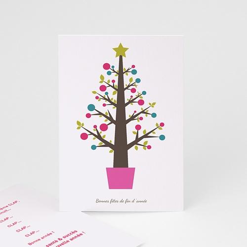 Carte de vœux particulier - Sapin Pop