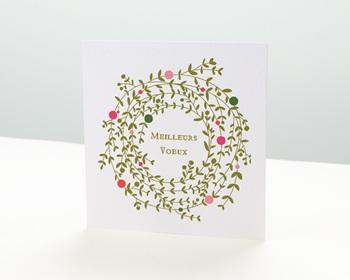 Carte de vœux particulier - Couronne de Noel - 1