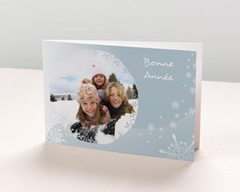Carte de vœux particulier - Voeux - gris bleuté - 1
