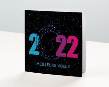 Carte de Voeux Entreprise 2021 Dans les étoiles