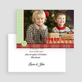 Carte de vœux particulier - Grande Photo & Design tissu